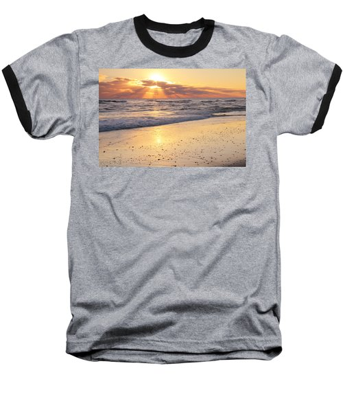 Sunbeams On The Beach Baseball T-Shirt
