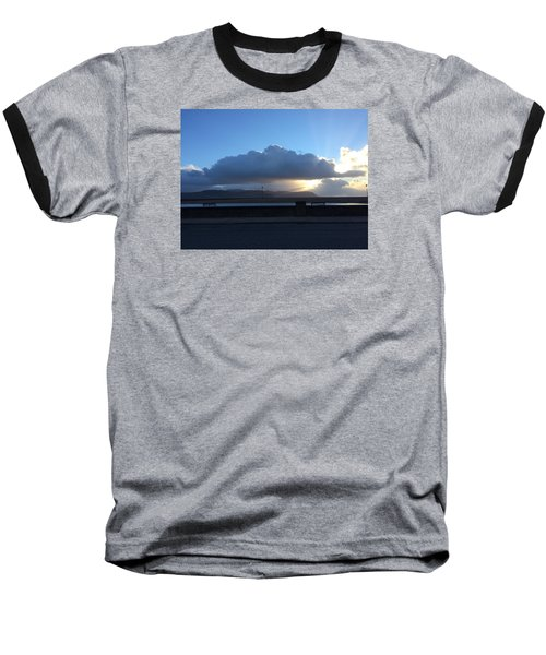 Sunbeams Over Conwy Baseball T-Shirt by Christopher Rowlands