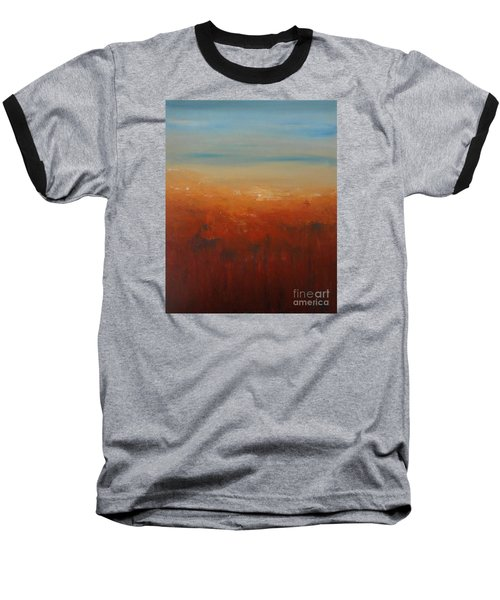 Baseball T-Shirt featuring the painting Sunburnt Country by Jane  See