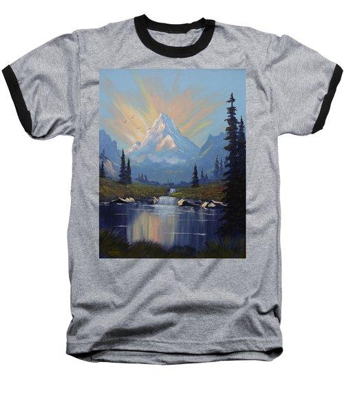 Sunburst Landscape Baseball T-Shirt