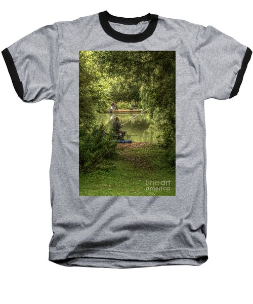 Sunday Fishing At The Lake Baseball T-Shirt
