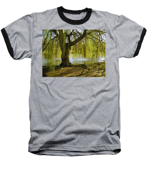 Sunday In The Park Baseball T-Shirt by Madeline Ellis