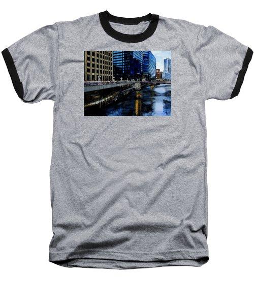 Sunday Morning In January- Chicago Baseball T-Shirt by Raymond Perez