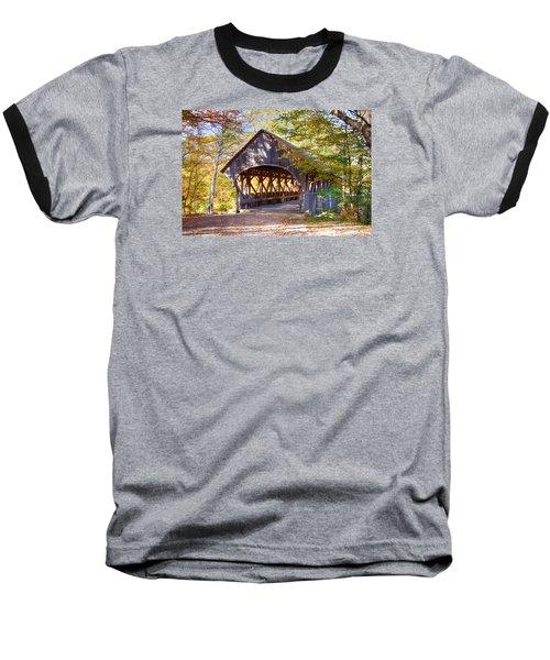 Sunday River Covered Bridge Baseball T-Shirt by Jeff Folger
