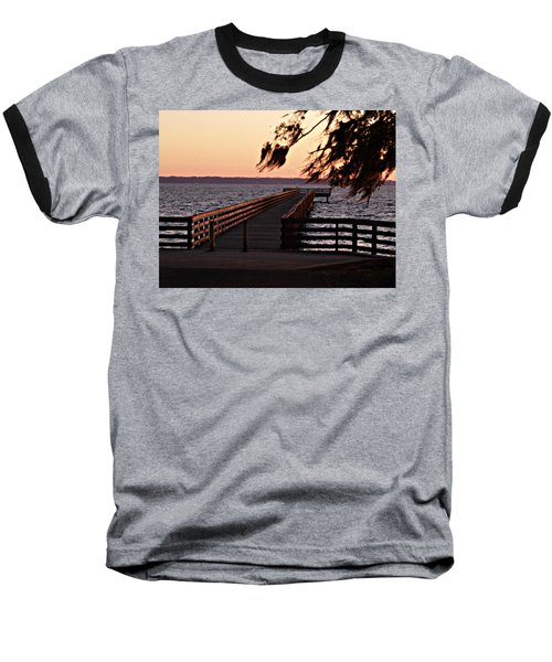Sundown At Shands Dock Baseball T-Shirt