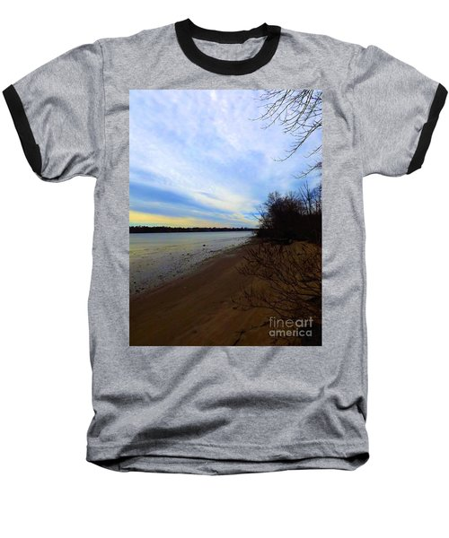 Sundown By The Side Of The River Baseball T-Shirt