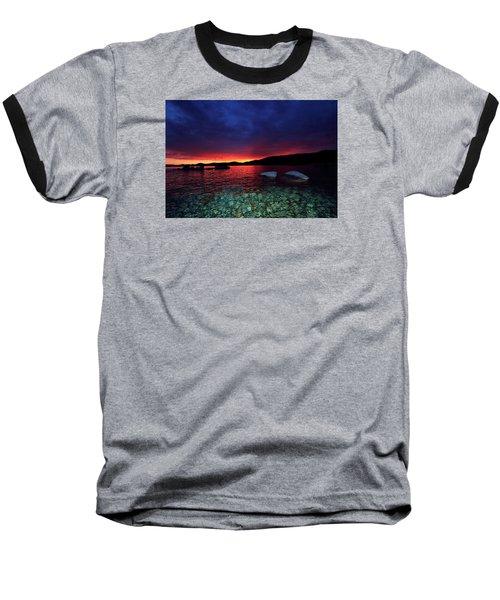 Baseball T-Shirt featuring the photograph Sundown In Lake Tahoe by Sean Sarsfield