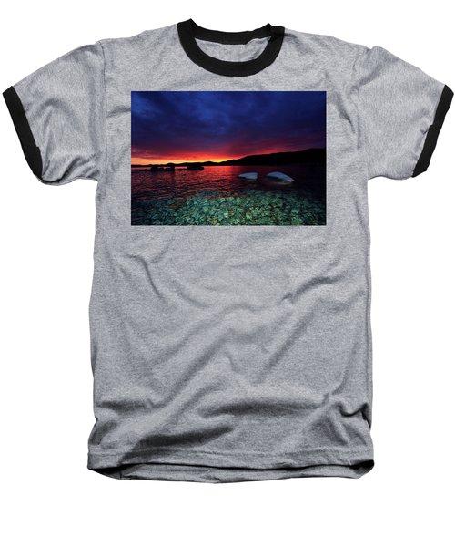 Sundown In Lake Tahoe Baseball T-Shirt