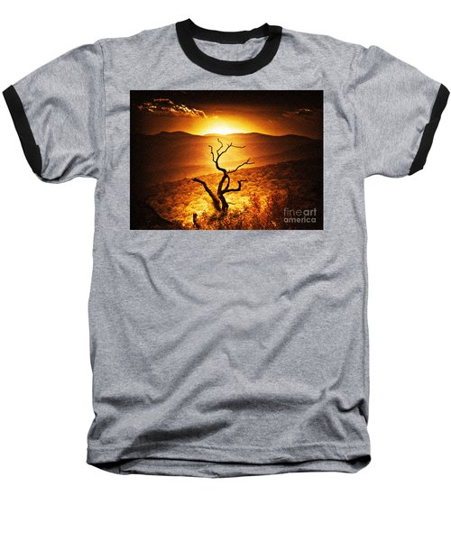 Sundown In The Mountains Baseball T-Shirt by Lydia Holly
