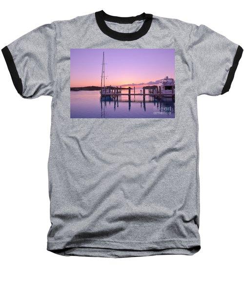 Sundown Serenity Baseball T-Shirt by Jola Martysz