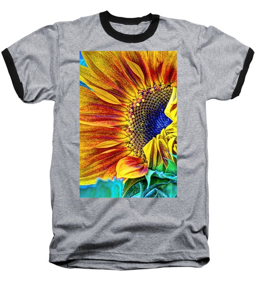 Sunflower Abstract Baseball T-Shirt