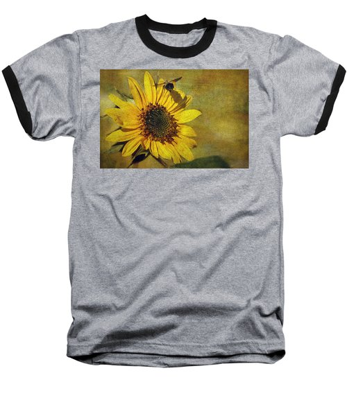 Sunflower And Bumble Bee Baseball T-Shirt