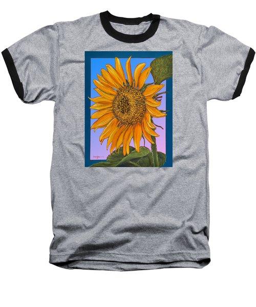Da154 Sunflower By Daniel Adams Baseball T-Shirt