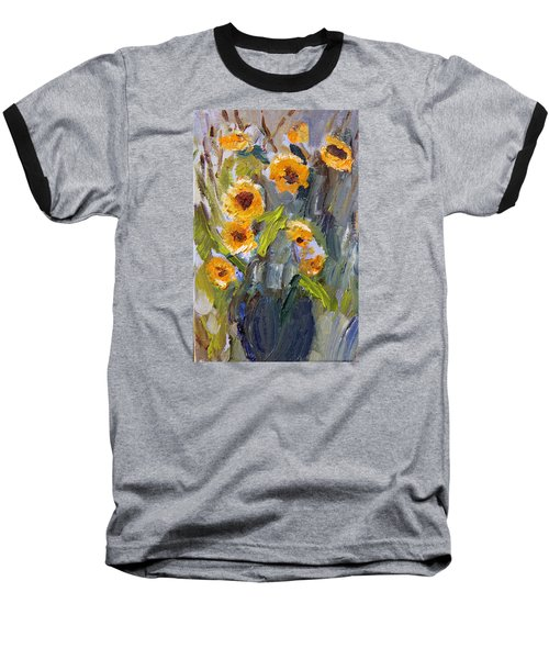 Sunflower Bouquet Baseball T-Shirt