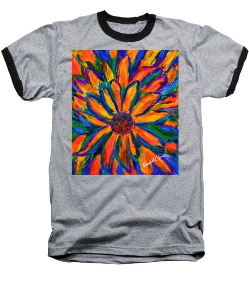 Sunflower Burst Baseball T-Shirt