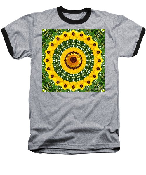 Sunflower Centerpiece Baseball T-Shirt