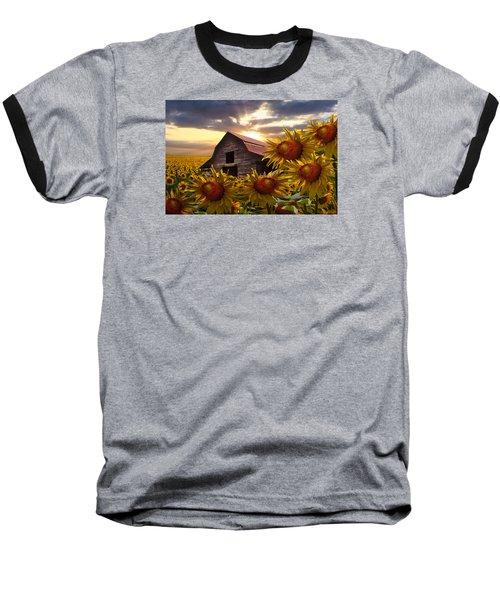 Sunflower Dance Baseball T-Shirt