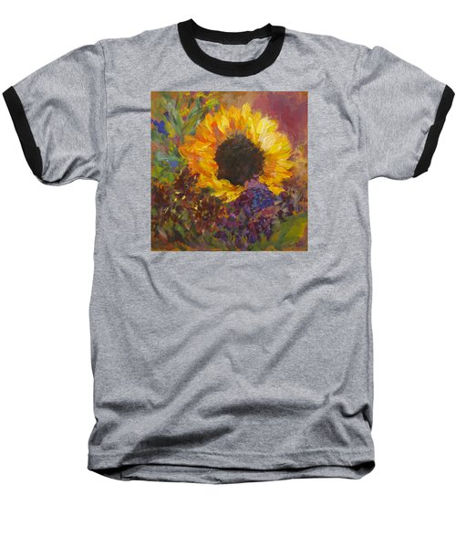 Sunflower Dance Original Painting Impressionist Baseball T-Shirt