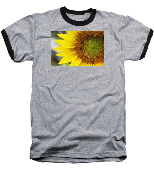 Sunflower Face Baseball T-Shirt by Shelly Gunderson