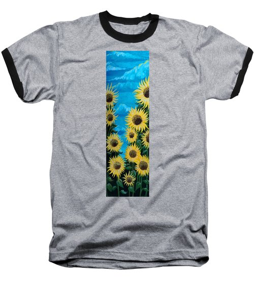 Sunflower Fun Baseball T-Shirt