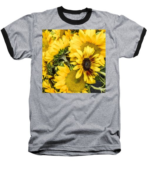 Sunflower Glow Baseball T-Shirt