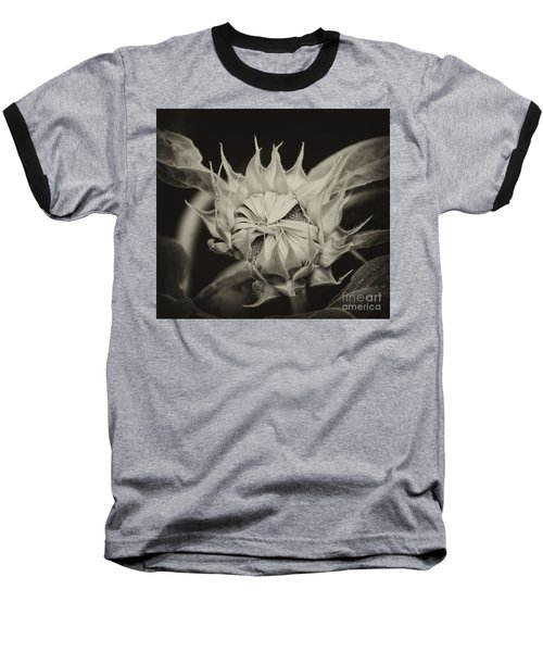 Baseball T-Shirt featuring the photograph Sunflower Grand Opening by Wilma  Birdwell