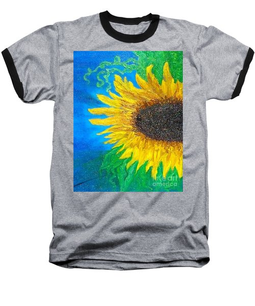 Sunflower Baseball T-Shirt by Holly Martinson