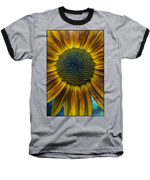 Sunflower In Rain Baseball T-Shirt