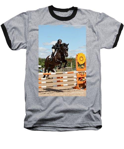 Sunflower Jumper Baseball T-Shirt