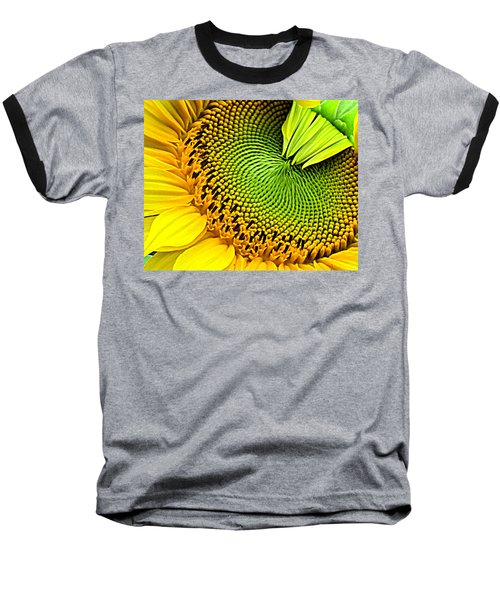 Sunflower Kaleidescope Baseball T-Shirt