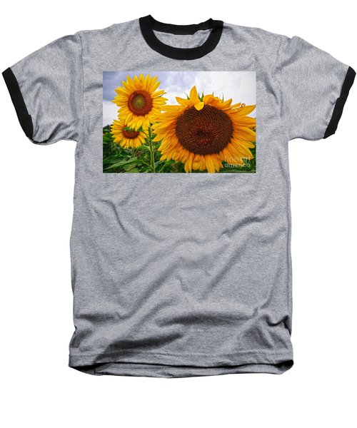 Sunflower Mama And Her Daughters  Baseball T-Shirt