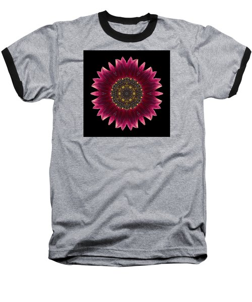 Sunflower Moulin Rouge I Flower Mandala Baseball T-Shirt by David J Bookbinder