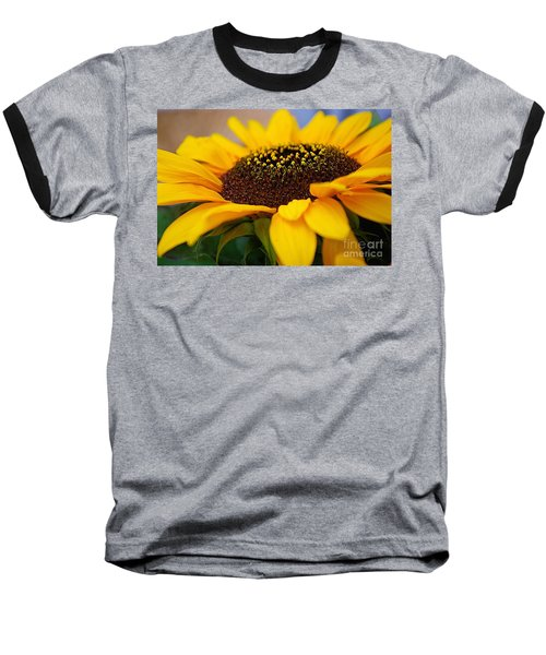 Baseball T-Shirt featuring the photograph Sunflower Portrait Two by John S