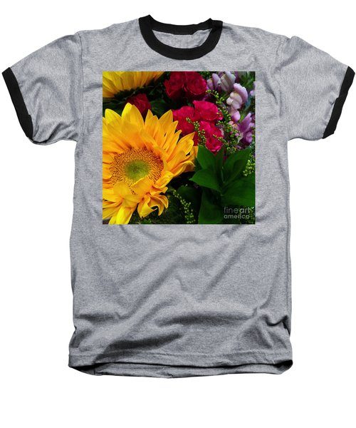 Sunflower Reflections Baseball T-Shirt