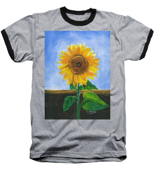 Sunflower Series Two Baseball T-Shirt by Thomas J Herring