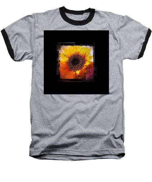 Baseball T-Shirt featuring the digital art Sunflower Sunset - Art Nouveau  by Absinthe Art By Michelle LeAnn Scott