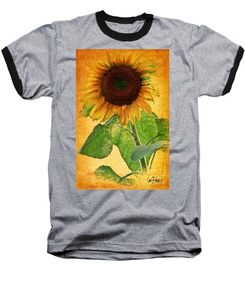 Sunny Sunflower Wall Art Baseball T-Shirt