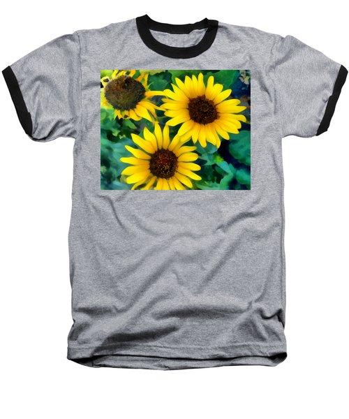 Sunflower Trio  Baseball T-Shirt