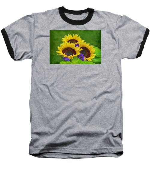 Sunflower Trio Baseball T-Shirt