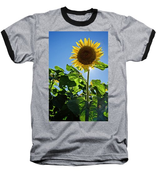 Sunflower With Sun Baseball T-Shirt