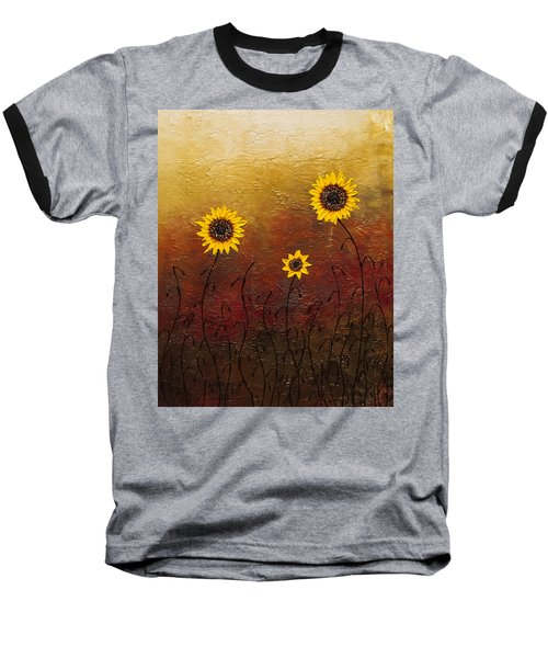 Sunflowers 2 Baseball T-Shirt