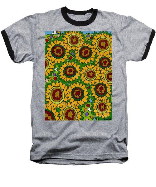 Sunflowers 2 Baseball T-Shirt