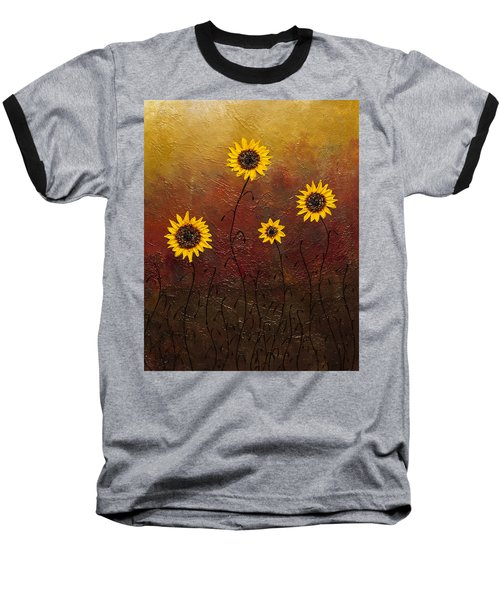 Sunflowers 3 Baseball T-Shirt