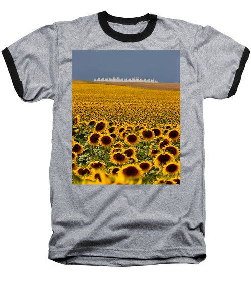 Sunflowers And Airports Baseball T-Shirt