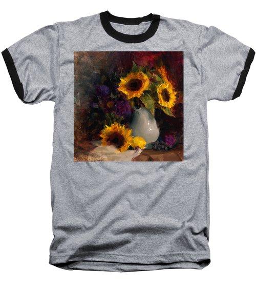 Sunflowers And Porcelain Still Life Baseball T-Shirt