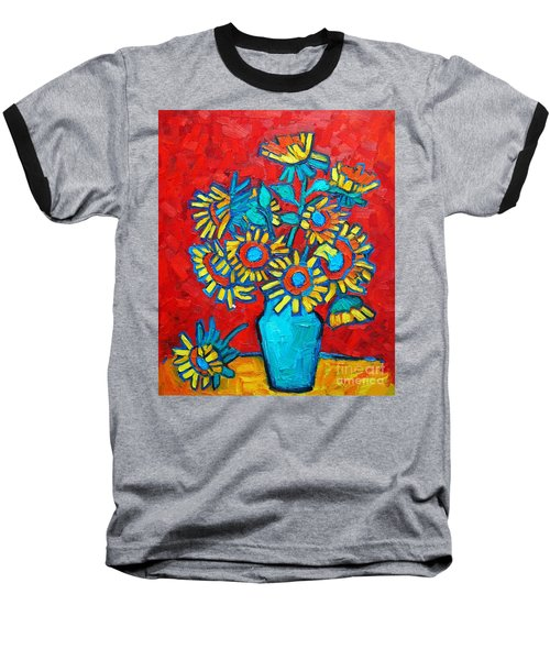 Sunflowers Bouquet Baseball T-Shirt