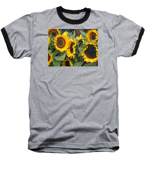 Sunflowers  Baseball T-Shirt by Chrisann Ellis
