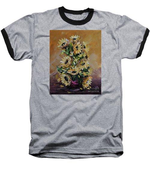 Sunflowers For You Baseball T-Shirt by Teresa Wegrzyn