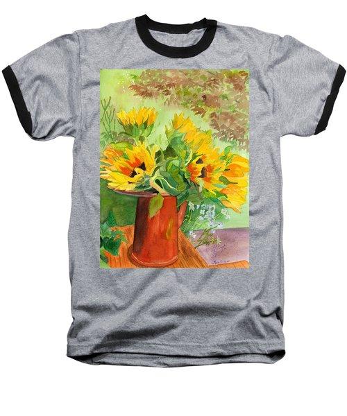 Sunflowers In Copper Baseball T-Shirt