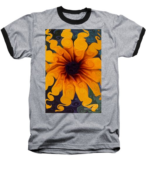 Sunflowers On Psychadelics Baseball T-Shirt